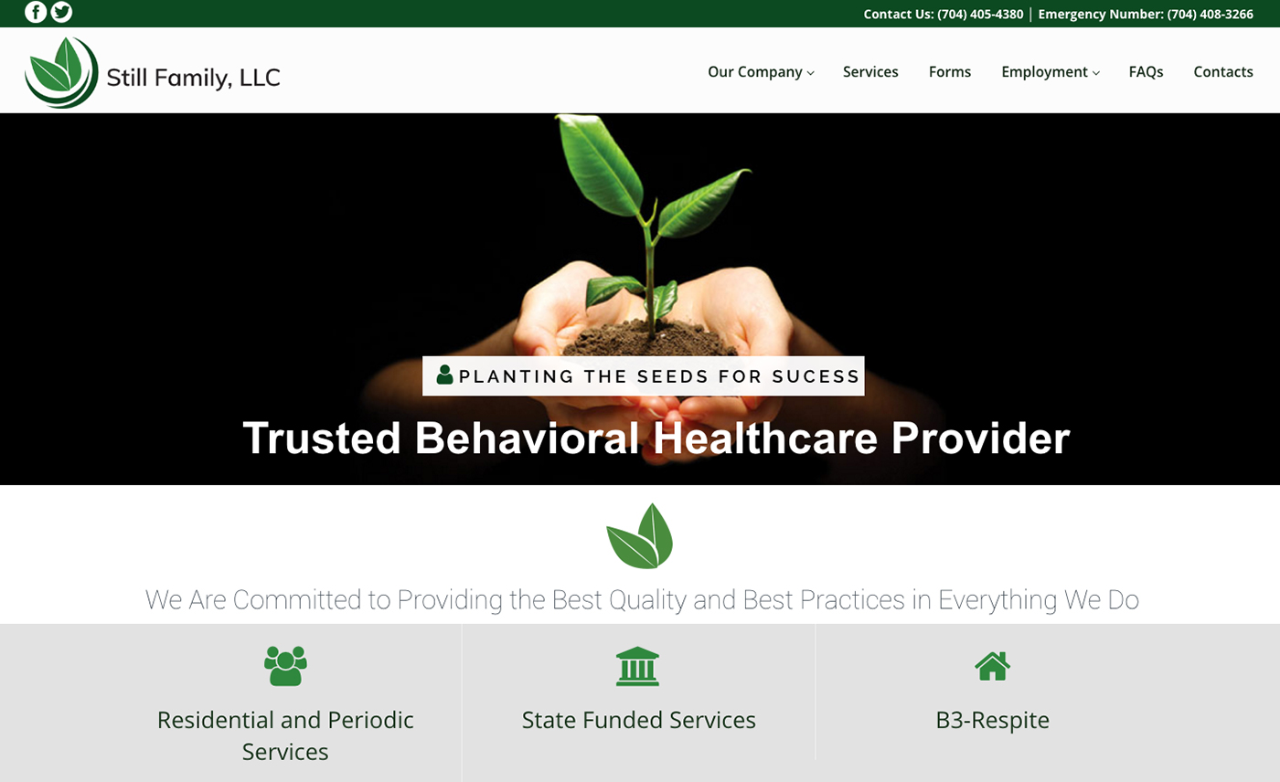 New Website Design For Still Family Llc