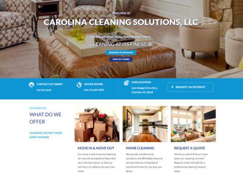 Carolina Cleaning Solutions, LLC Web Project