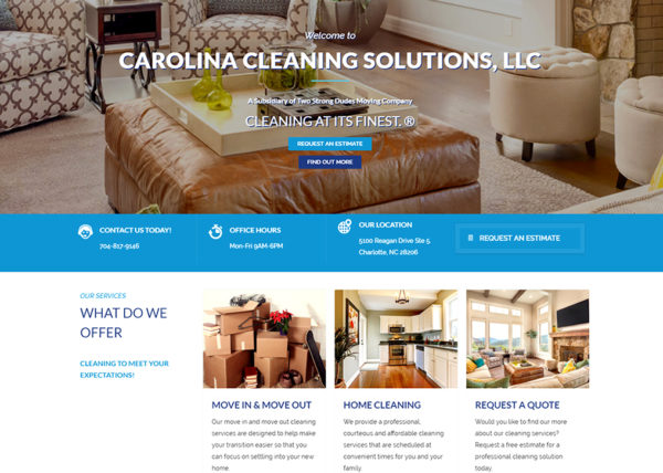 Carolina Cleaning Solutions, LLC Web Project